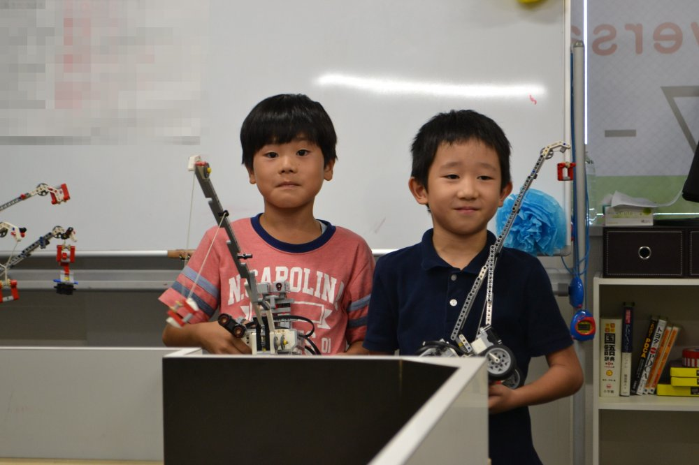 ふじみ野のロボット教室でクレーンロボット競技の発表会を行いました!