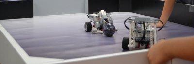 ロボット教室ふじみ野校でロボットサッカー競技の発表会を行いました!