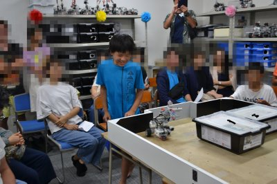ロボット教室ふじみ野校で戦車ロボットの競技発表会を行いました!