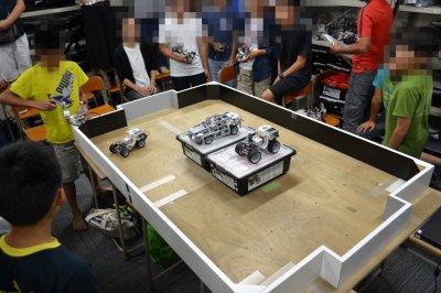ロボット教室ふじみ野校でロボットをつかったラジコンレース競技の発表会を行いました!